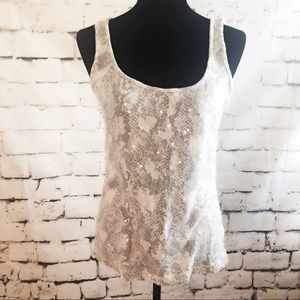 OLD NAVY Sequin Snake Print tank top